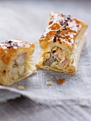 Turkey and mushroom individual pastry pie