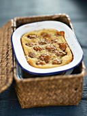 Mirabelle plum and rice milk clafoutis