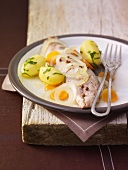 mackerels with potatoes and olive oil