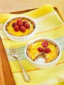 Peach-raspberry tartlets