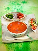 Tomato, pepper and chorizo gazpacho