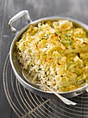 Cod,herb and cauliflower puree Parmentier