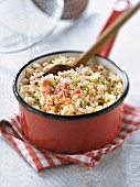 Two ham and pecorino risotto