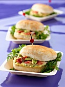 Avocado and crab sandwich