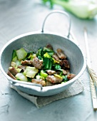 Pork and Pak-choi cabbage wok