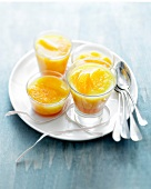 Oranges with pomegranate jelly