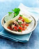 Tuna, tomato and lime tortilla