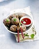 Steamed beef meatballs