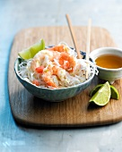 Vermicelli and shrimp salad
