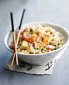 Cantonese rice with shrimps