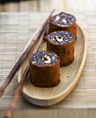Chocolate, apple and ginger Makis