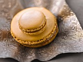 Big and small coffee macaroons