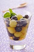 Grape and ginger fruit salad