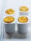 Vache-qui-Rit and carrot soufflé