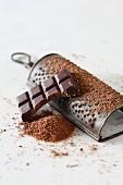 Grating chocolate