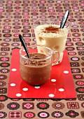 Banana milk shake and a Nutella milk shake