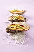 Oysters with Champagne sauce au gratin