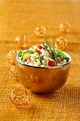 Curried rice salad with crab meat