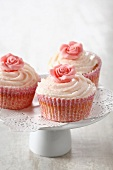 Rose and vanilla cupcakes