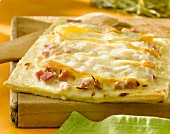 Munster and ham flaky pastry tart