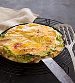Tartiflette au chou vert (Potato and bacon bake with kale)