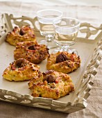 Chestnut and diced bacon Gougères