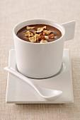 Chocolate and hazelnut cream dessert