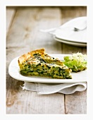 Artichoke and spinach quiche