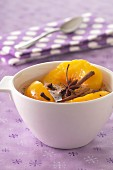 Spicy stewed peaches