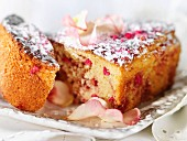 Rose-flavored cake