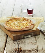 Pizza-style cream and onion Focaccia