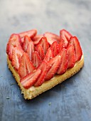 A heat-shaped strawberry tart