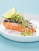 Salmon with detox sprouts