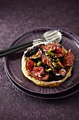 Fig and pistachio tartlet