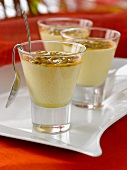 Passion fruit mousses