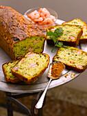 Shrimp and turmeric savoury cake