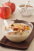 Muesli with dried fruit,apples and honey