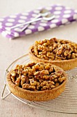 Walnut and toffee tartlets