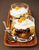 Autumn stewed fruit with cream