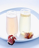 Bellini and Rossini cocktails