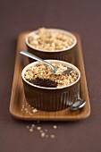 Chocolate cream crumble