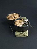 Salmon-spinach savoury crumble