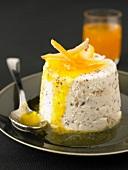 Sizilianische Cassata-Eistorte mit Pistazien und Orange