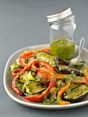 Vegetables with pesto