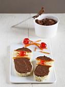 Briochebrötchen mit Nutella und kandierten Früchten
