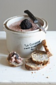Chicken liver mousse with truffles