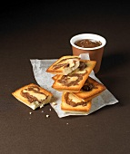 Financiers with chocolate spread