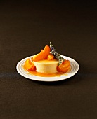 Apricot and lavander panna cotta