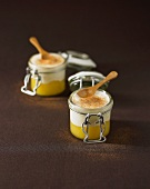 Yoghurt with pineapple compote and cinnamon