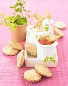 Mini herb shortcrust pies